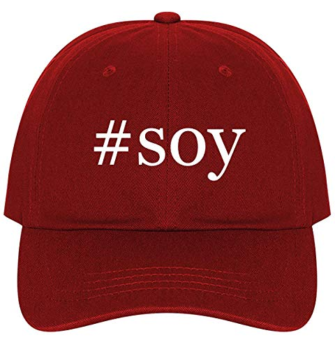 #Soy - A Nice Comfortable Adjustable Hashtag Dad Hat Cap, Red