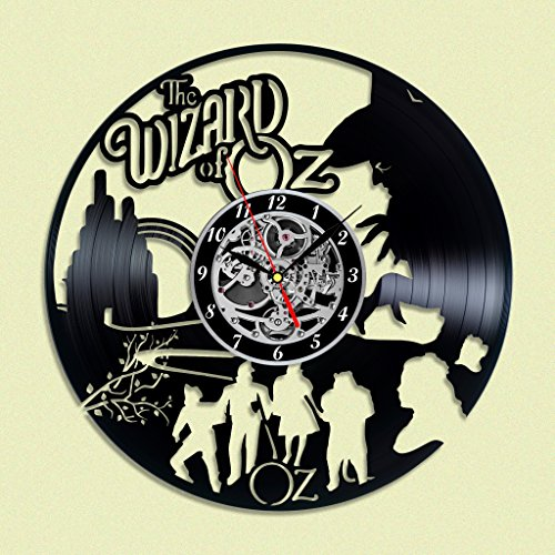 Wizard of Oz Vinyl record Wall Clock, Unique Décor for Home or Living Room, Gift ideas for friends, man and woman, boys and girls (Wizard Of Oz Decoration Ideas)