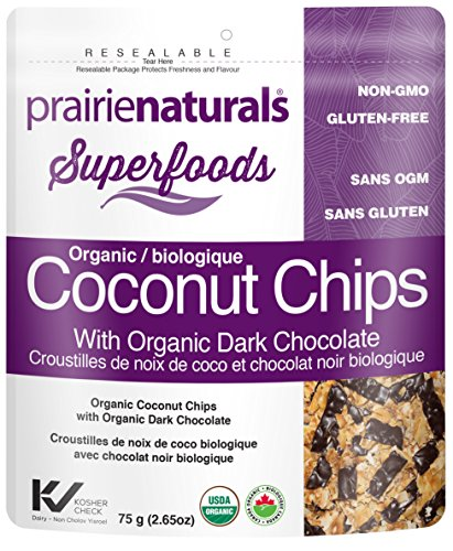 Prairie Naturals Coconut Chips with Organic Dark Chocolate, 60g