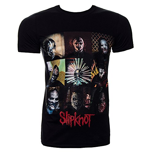 T-Shirt mit offizieller SLIPKNOT der Gray Kapitel BLOCKS Masken, alle Größen