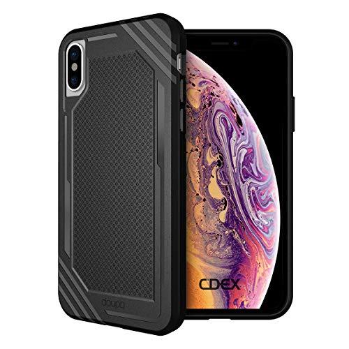 doupi Fashion Armor Case for iPhone Xs Max (iPhone 10s Max) 6.5 inch Design Slim Protective Bumper Cover, Black