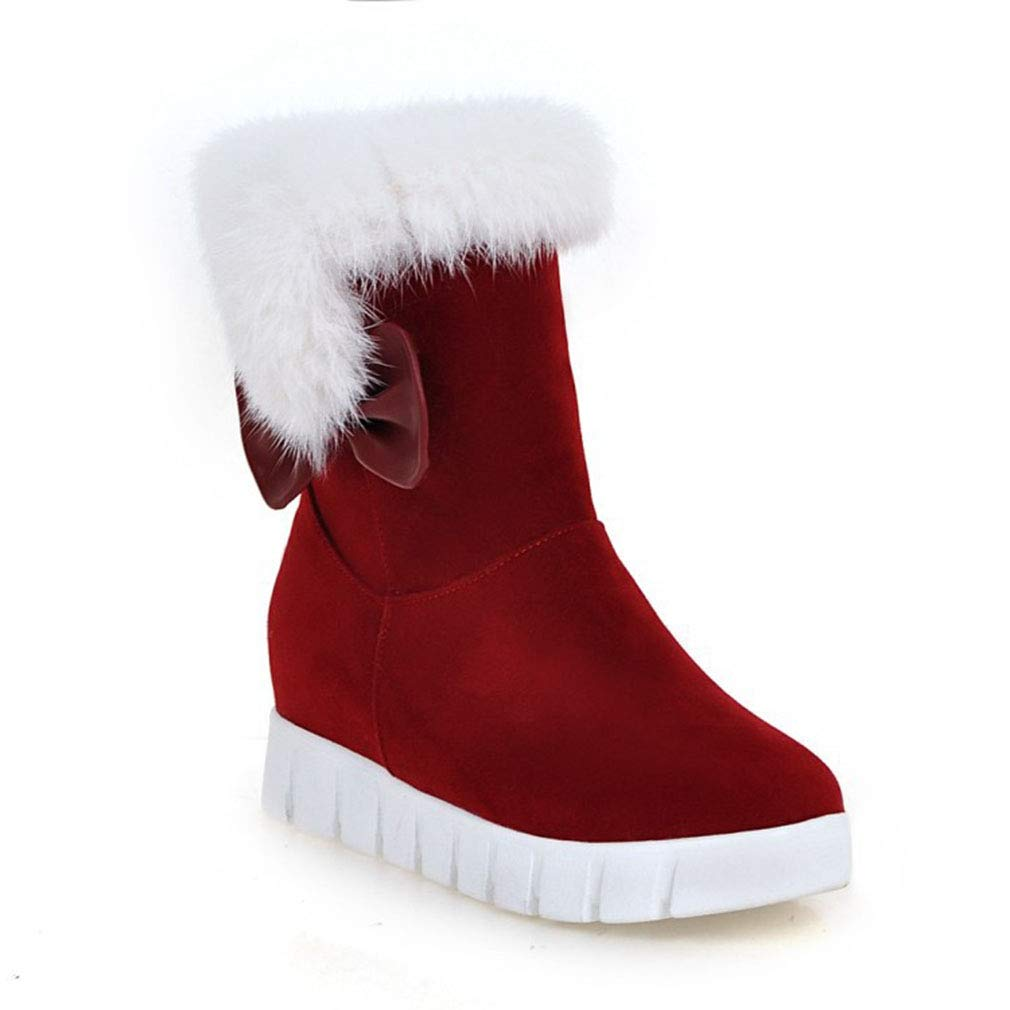 1b4a829e88f Amazon.com: Hy 2018 New Women's Snow Boots Suede Winter Slip-Ons ...