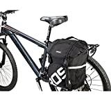Fontic 15L Bike Tail Trunk Bag Bicycle Cycling Rear Seat Pannier Easy Clean Rack Trunk Handbag for Outdoor Use/Polyester