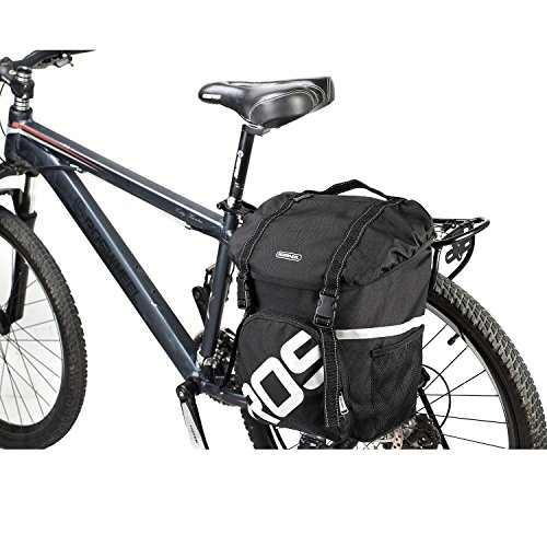 Fontic Waterproof 15L Bike Tail Trunk Bag Bicycle Cycling Rear Seat Pannier Easy Clean Rack Trunk Handbag for