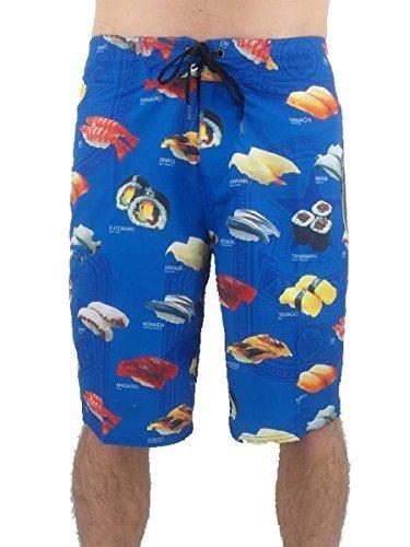original Analog Short Boardshort Badehose Cmbt Sushi3 blau Tasche NEU Blau