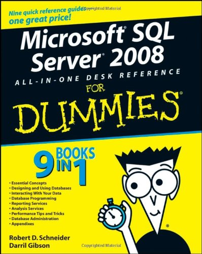 Microsoft SQL Server 2008 All-in-One Desk Reference For Dummies Front Cover