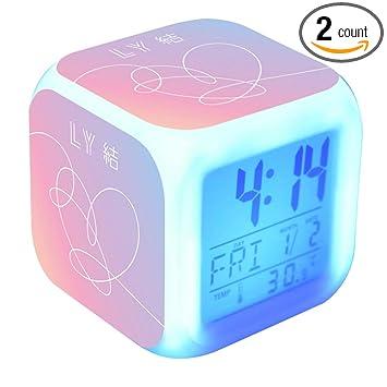 Amazon.com: Bosunshine BTS despertador despertador digital ...