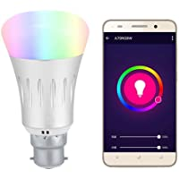 SmartChoice B22 WiFi LED 6000k + RGBW, 10w Multi Colour Changeable Smart Light Bulb, Works with Smart Phones, Alexa and Google Compatible