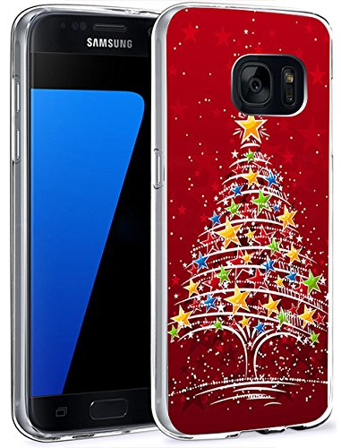 Price comparison product image Slim Fit Case for Galaxy S7 Red Christmas Tree