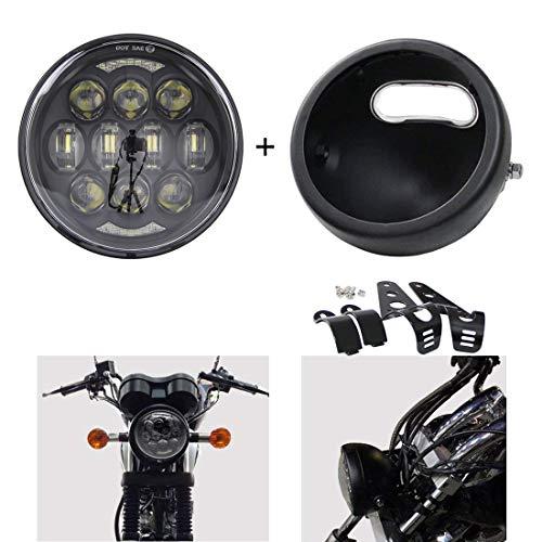 SKTYANTS 7 7 Inch headlights Housing bucket for Harley Davidson motorcycle black