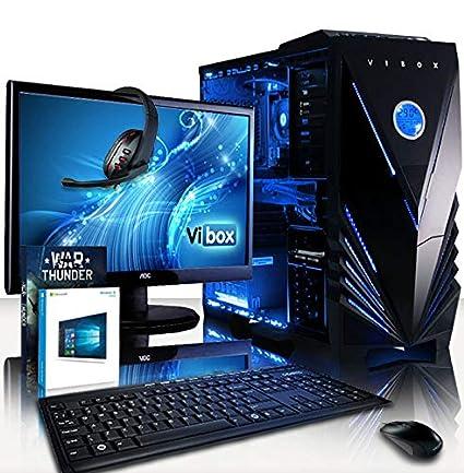 Vibox - Extreme 6, Ordenador PC Gaming, con Juego War Thunder, Monitor HD de 21,5