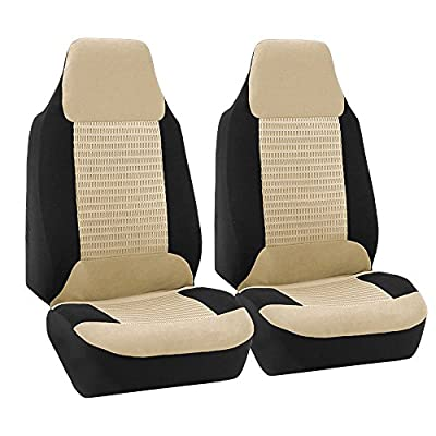 FH GROUP FH-FB102102 Classic Cloth Pair Bucket Seat Covers