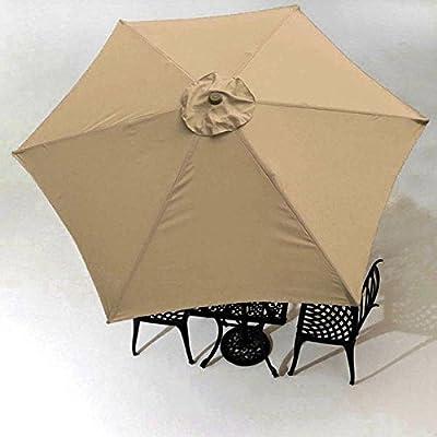 9 Ft 6-rib Patio Umbrella Replacement Canopy Tan : Garden & Outdoor