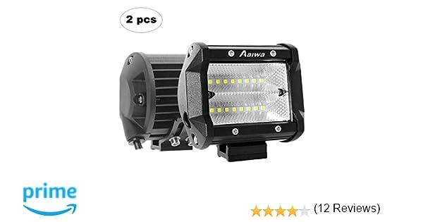 AAIWA Foco Led,Faro Luz 48w 2pcs, Focos LED de Trabajo,Luces ...