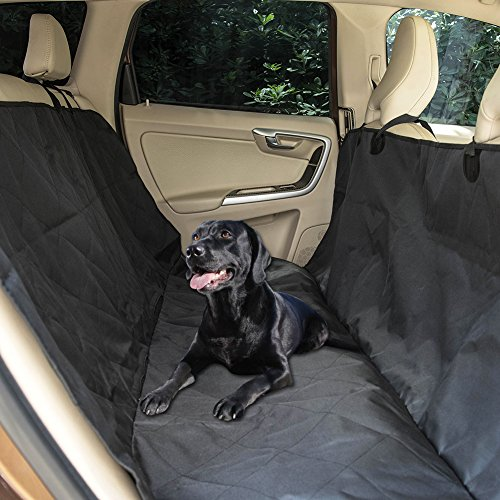 LazyDaze Hammocks Deluxe Dog Seat Covers for Cars, Dog Car Seat Hammock Convertible, Universal Fit, Nonslip, Waterproof Padded Quilted Hammocks for Pets (L)