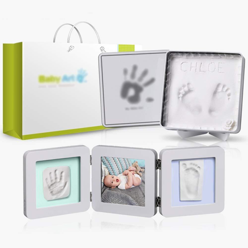 ベビーの手と足のインク 赤ちゃんの手と足のインク - Divのクリエイティブセットを保存する環境に配慮した赤ちゃんのお土産100日の贈り物赤ちゃんの足跡の成長メモリアルフォトフレーム - 9オプション (色 : Set two)  Set two B07K6LRC9L
