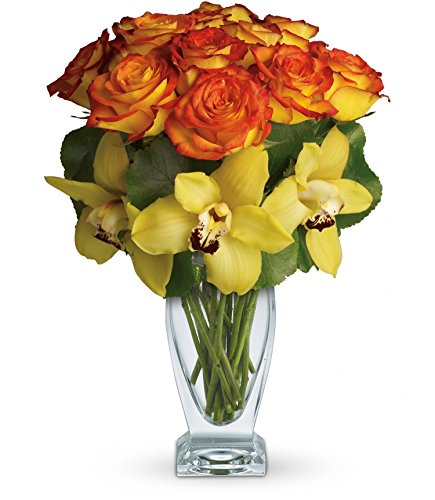 Chicago Flower Co. - Aloha Sunset Roses and Orchids - Fresh and Hand Delivered