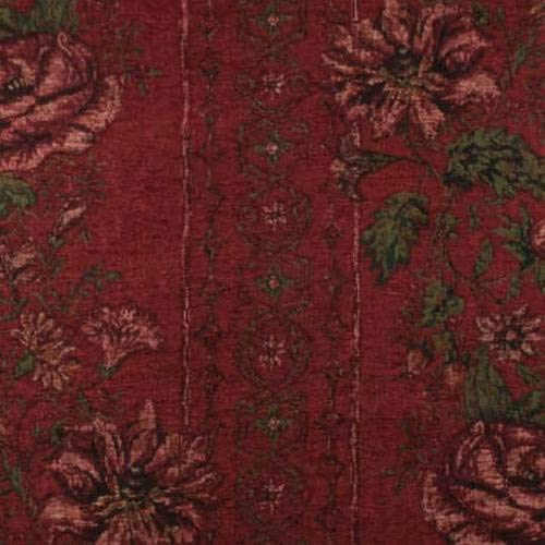 - Red Floral Chenille Tapestry Home Decorating Fabric, Fabric by The Yard