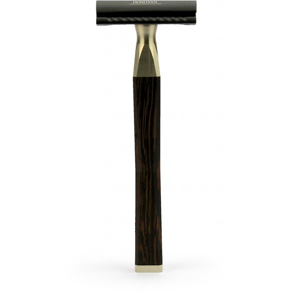A.P. Donovan - Conjunto de afeitar - afeitado húmedo clásico, Barbería - brocha de afeitar el pelo de tejón, la maquinilla de afeitar de madera - Dexter ...