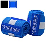 "Synergee Blue Wrist Wraps 18"" by 3"" Professional Grade with Thumb Loops"
