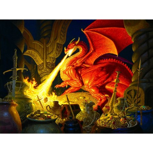 Smaug Dragon a 1000-Piece Jigsaw Puzzle by Sunsout Inc.