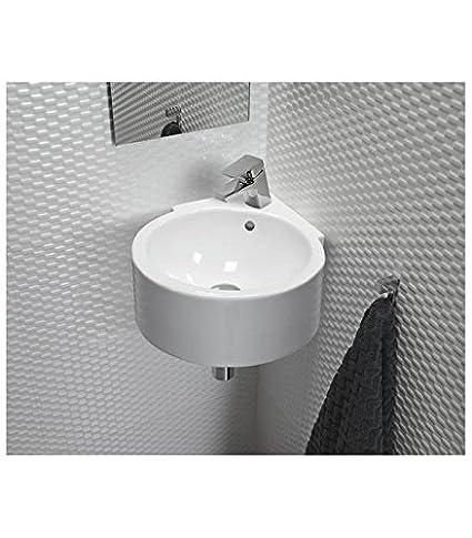 Sanitana lavabo angolare serie isla e1905010 bianco.: Amazon.it ...