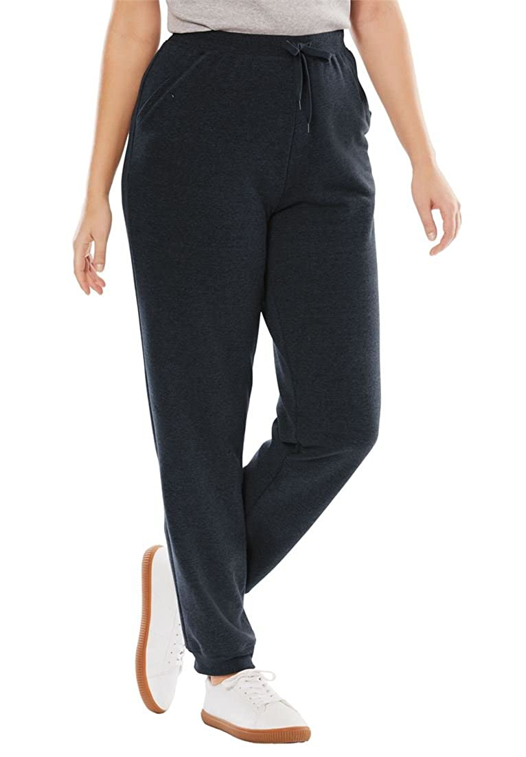 Woman Within Plus Size Fleece Jogger Sweatpant