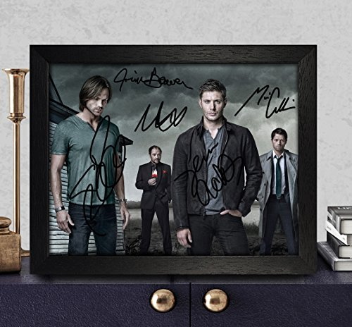 Autographed Photo 8X10 Reprint Rp Pp - Jim Beaver, Mark Sheppard, Misha Collins, Jared Padalecki & Jensen Ackles (Collins Autographs)