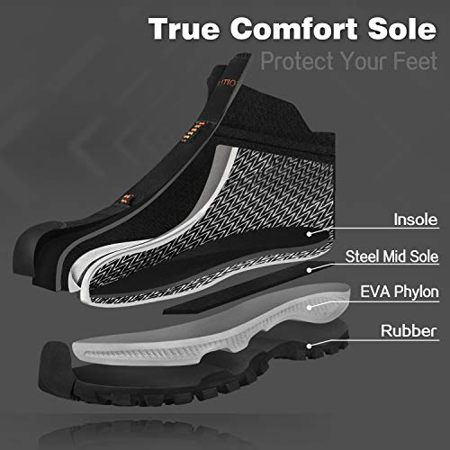 GRITION Chaussures de Randonnée Homme imperméables Chaussures de Trail,Bottes de Marche Moto Homme d'hiver de randonnée… 4