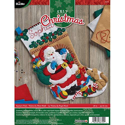 Bucilla 86702 Felt Applique Stocking Kit Santa's Visit, Size 18-Inch from Bucilla
