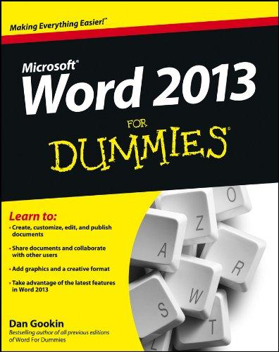 Word 2013 For Dummies (Microsoft Word 2018 Free Online)