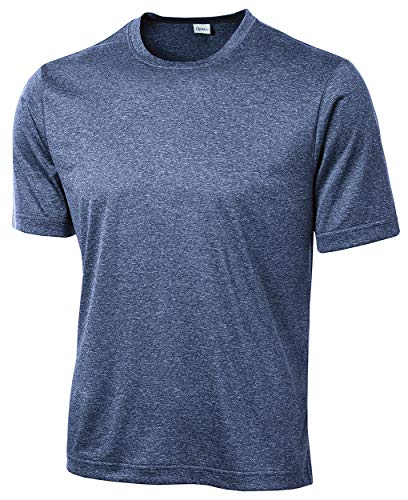 Opna Men's Big & Tall Short Sleeve Moisture Wicking Athletic T-Shirts Regular Sizes & XLT's