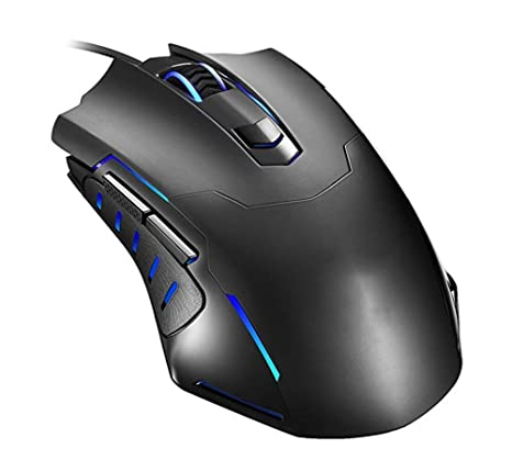 Gaming Mouse Wired, Pictek 6 Botones Ergonómico Óptico USB Mouse PC Ordenador Portátil Gaming Ratones