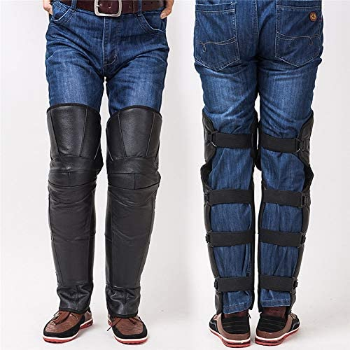 オートバイの膝パッド - 膝のガード - モトクロス保護装置新パッド新パッドサッカー冬の厚いと長い暖かい脚の保護