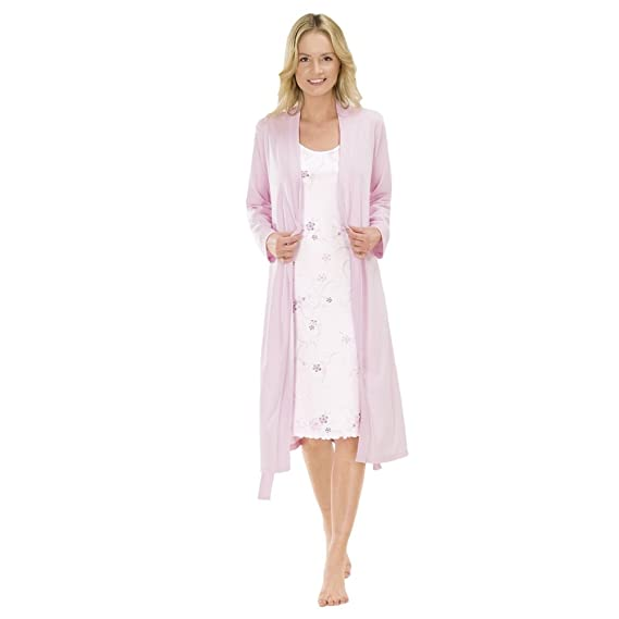 Pill Wrap Front Cotton Dressing Gown: Amazon.co.uk: Clothing