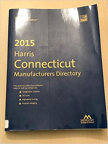 Harris Connecticut Manufacturers Directory 2015: Mergent