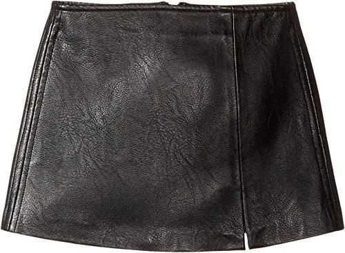 Blank NYC Kids Girl's Black Vegan Leather Mini Skirt in Break The Ice (Big Kids) Break The Ice Skirt by Blank NYC Kids