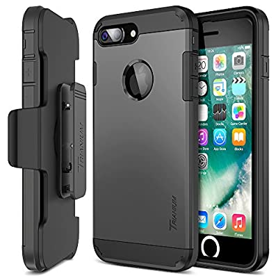 iPhone 7 Plus Case, Trianium [Duranium Series] Heavy Duty Protective Cases Shock Absorption Hard Covers w/ Built-in Screen Protector+ Holster Belt Clip Kickstand for Apple iPhone 7 Plus 2016