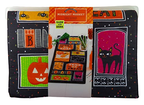 Halloween Trick or Treat Glow in the Dark Table Runner, 13