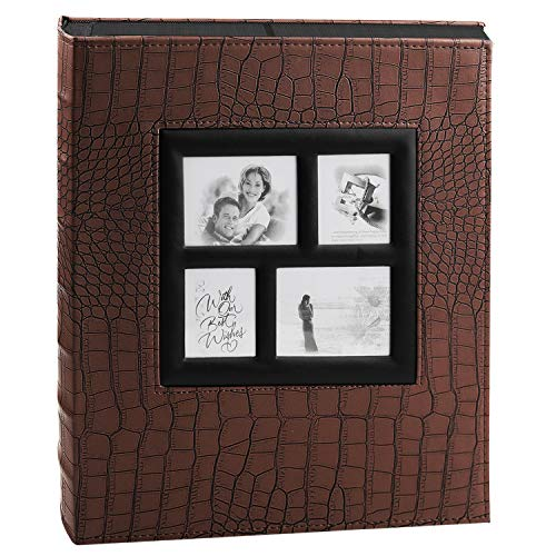 - ALUCKY Photo Album 600 Pockets, Premium Leather Cover 4X6 Photo for Wedding Anniversary Baby Family Record