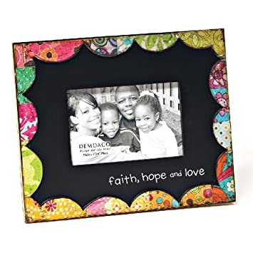 Amazoncom Demdaco Colorful Devotions Faith Hope And Love Frame