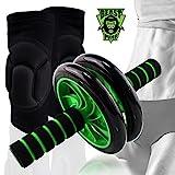 Beast Pump Ab Roller Wheel Core Abdominal Trainer + Knee Pads Protector