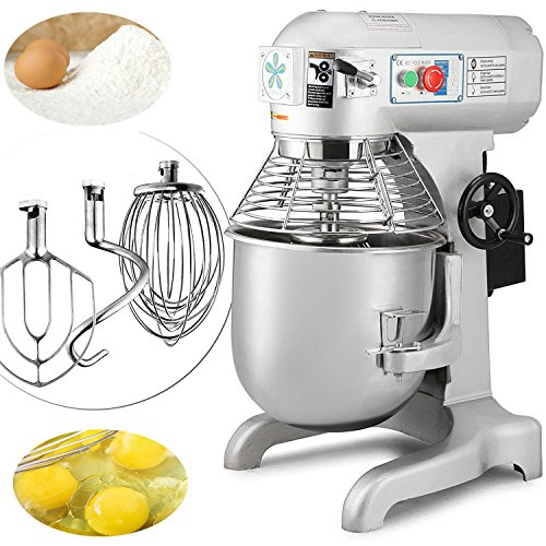 Happybuy Commercial Food Mixer 1100W Dough Mixer Maker 3 Speeds Adjustable Commercial Mixer Grinder 94/165/386 RPM Stand Mixer (30 qt) For Sale