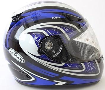 Vemar Full Face casco VSS Evo Boomerang, blue-silver (tamaño: XL)
