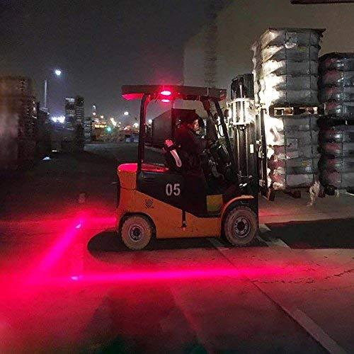 LIGHTUPRO 30W LED Forklift Truck Side Line Marker Light Safety Warning Work Lamp Pedestrian Safe Warning Light //Offroad Race Lamp //Forklift Safety Light Waterproof IP68 10-80V RED LINE