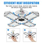 LED Garage Lights, New Upgrade 150W Deformable Four Leaf Ceiling Light, 15000LM Ultra-Bright Trilight Lighting with 4… 12