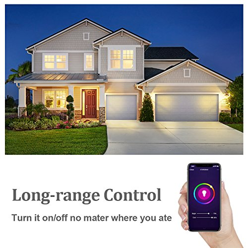 Tonbux Alexa Smart LED Bulb, Work with Echo and Google Home, No Hub Required WiFi Color Light Bulbs(10W) A21, Phone Controll and RGBW Tunable (60W Equivalent) by TONBUX (Image #7)