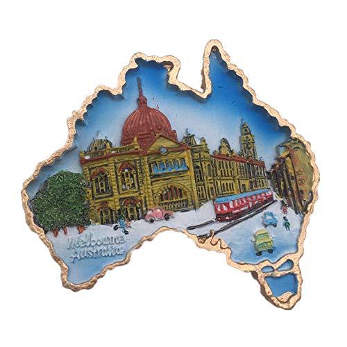 Melbourne Victoria Australia Fridge Magnet 3D Resin Handmade Craft Tourist Travel City Souvenir Collection Letter Refrigerator Sticker