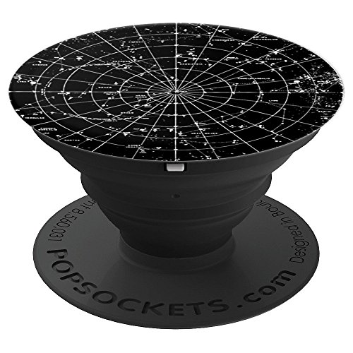 Vintage Solar System Sky Stars Planets Universe Astronomy - PopSockets Grip and Stand for Phones and Tablets by Solar Gaze Blingware