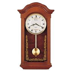 Bulova C4443 Baronet Chiming Clock, Mahogany